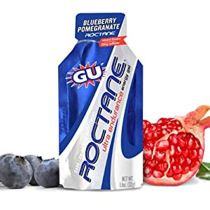 Gu Energy Gel, Roctane, Blueberry Pomegranate, 24-Count