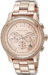 Michael Kors Women's Heidi Rose Gold-Tone Watch MK6064