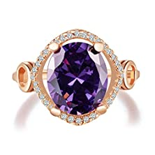 buy Superhai Luxury Exquisite Minimalist Fashion Rings Hollow Purple Diamond
