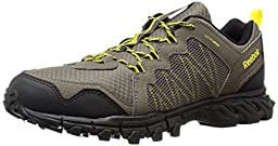 Reebok Men\'s Trailgrip RS 4.0 Outdoor Shoe, Cliff Stone/Black/Coal/Yellow Spark, 9.5 M US