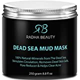 BEST Dead Sea Mud Mask for face & body 8.8 oz - The most effective 100% natural facial treatment to minimize pores, reduce wrinkles, decrease acne and Improve skin Complexion by Radha