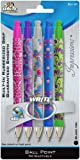 Write Dudes Style Comfort Grip Retractable Ballpoint Pens, Medium Point, Assorted Colors, 5-Pack (41359)