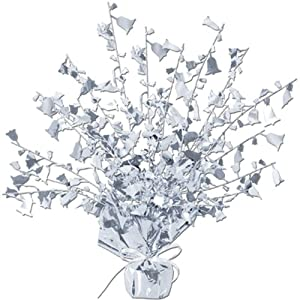 Anniversary Gleam 'N Burst Centerpiece (silver) Party Accessory  (1 count) (1/Pkg)