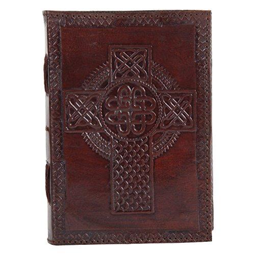 Cyber   Lunedi offerte Celtic Cross Embossed Leather Journal