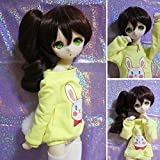 1/3 BJD SD Doll Wig with 9-10 Inch BJD Doll Wig High Temperature Synthetic Fiber Long Dark Brown Curls Hair Wig BJD Doll Wigs for 1/3 BJD SD Doll(33#) (Color: 33#)