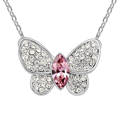 Boxingcat Fine Jewelry Swarovski Style Clear Austrian Crystal Pendant Necklaces Bgca6541 front-791805