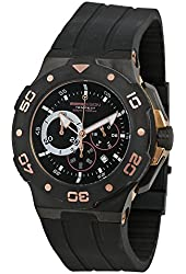 Momo Design Tempest Chronograph Black Dial Black Rubber Mens Watch MD1004RP-11