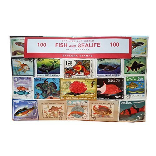 worldwide-fish-sea-life-and-marine-animals-stamps-collection-100-different-stamps-souvenir-speicher-