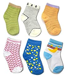 Camey Baby Socks Mix Designs (pack of any 6 ) 12-18 Months