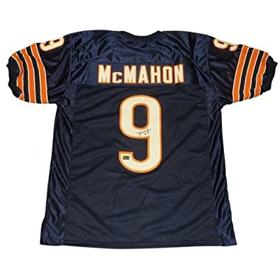 Jim McMahon Autographed Chicago Bears (Blue #9) Jersey