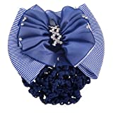 Scheda dettagliata Sourcingmap - Retina per chignon, da donna, motivo: fiore a righe, colore: bianco/blu