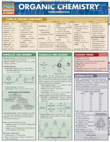 Organic Chemistry Fundamentals (Quickstudy: Academic)