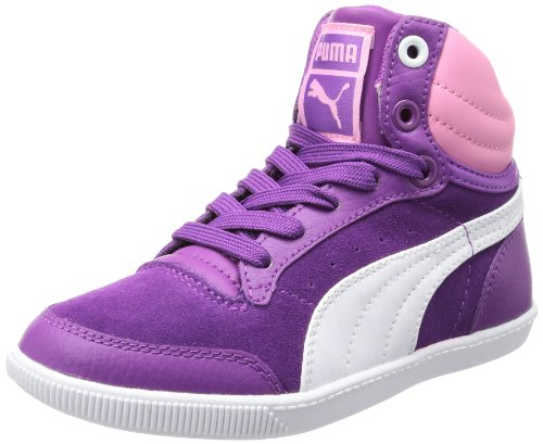 Puma Glyde court Jr High Top Unisex-Child Pink Pink (sparkling grape-white-sachet pink 03) Size: 37.5