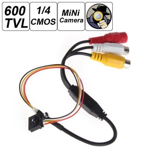 "Eastvita 500 Mega Pixel Smallest Button Pinhole Spy Video Camera Mini Hidden Camera With 600Tvl 1 / 4"" Hd Sensor Support Video And Audio Output Tv Standard - Ntsc"
