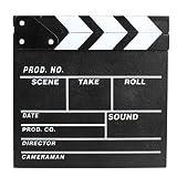 Dealglad Wooden Director Clapboard Film Movie Clapper Board Cut Action Scene Board Slate (Small) (Color: Small)