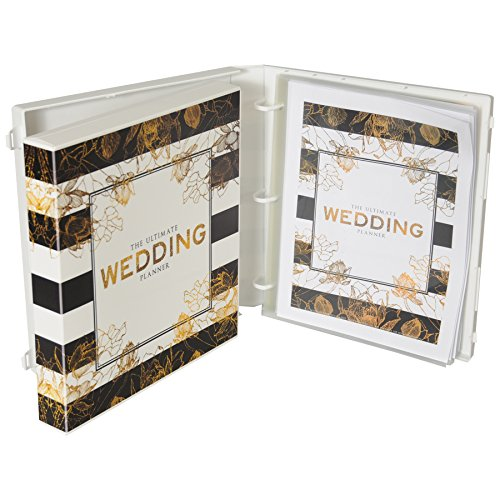 Wedding Planning Binder Kit - Modern Stripe & Gold