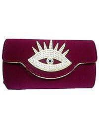 KIKS Women's Beautiful Eligant Stylish Party Wear Sling Handbag (Mangenta) (S10763)