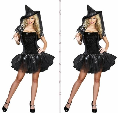 Sexy Witch Women Black Costumes
