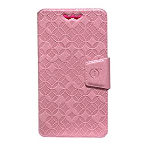 Jo Jo Cover Aarav Series Leather Pouch Flip Case With Silicon Holder For  mPhone 5S Light Pink