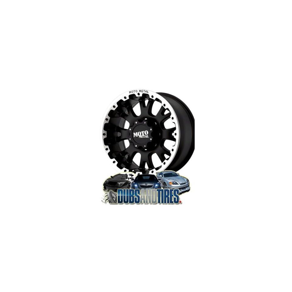20 Inch 20x9 MOTO METAL wheels MO956 Matte Black w/ Machined Lip wheels rims