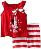 Disney Baby-Girls Infant 2 Piece Minnie Mouse Shirt And Stripped Short