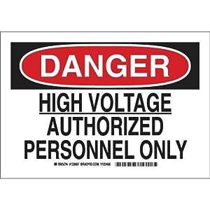 Brady 122737 Admittance Sign