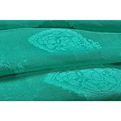 Aagaman Fashions Brocade , Faux Georgette Fabrics (TSFB053_Green)