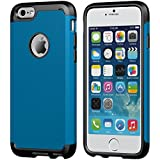 iPhone 6 Case, LUVVITT® ULTRA ARMOR iPhone 6 Case / Best iPhone 6 Case for 4.7 inch Screen Air | Double Layer Shock Absorbing Blue iPhone 6 Case Cover (Does NOT fit iPhone 5 5S 5C 4 4s or iPhone 6 Plus 5.5 inch screen) - Black / Metallic Blue