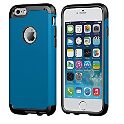 iPhone 6/6s Case, LUVVITT [Ultra Armor] Shock Absorbing Case Best Heavy Duty Dual Layer Tough Cover for iPhone 6 / iPhone 6s - Black / Metallic Blue