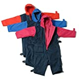 Togz Fleece Lined All-in-one Suit Navy / Red