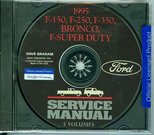 COMPLETE 1995 FORD TRUCK & PICKUP FACTORY REPAIR SHOP & SERVICE MANUAL CD - INCLUDES Bronco, F-150, F-250, F350, F-Super Duty - COVERS Engine, Body, Chassis & Electrical. 95 (F150 Radiator Cover compare prices)