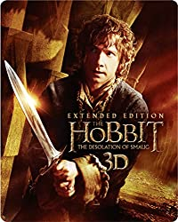 The Hobbit: The Desolation Of Smaug - Extended Edition Steelbook [Blu-ray 3D + Blu-ray] [2014] [Region Free]
