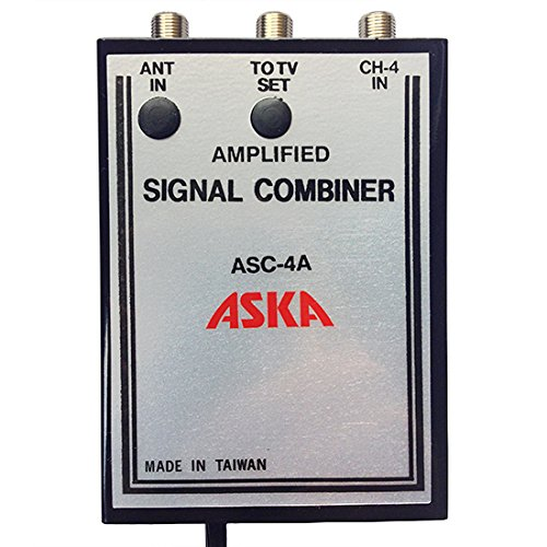 4 Signal Combiner Amplified 15 dB Video Modulator ASC-4A, CH-4 Adjustable Gain Satellite TV Dish Off-Air TV Antenna UHF / VHF Video Distribution (Uhf Cable Modulator compare prices)