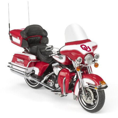 Highway 61 / Oklahoma Sooners Football Harley-Davidson Ultra Classic Electra Glide Diecast Motorcycle 1:12