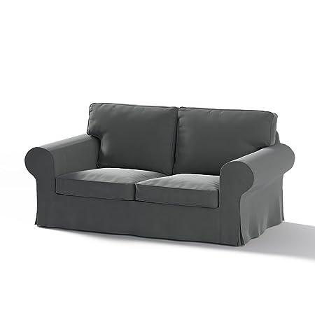 Dekoria Rivestimento per divani a 2 posti Ektorp VECCHIO modello Rivestimento per divano, copridivano, fodere, adatto al modello Ikea Ektorp, grigio