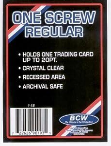 1 (One) BCW 1 Screw Card Holder - 20 Pt. - Screwdown - Baseball Card Display Case - Sports Screw Down Card Holder