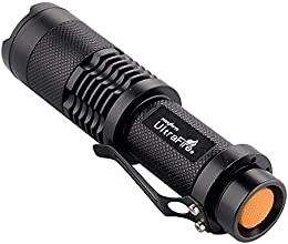 UltraFire 7W 200LM Mini XPE Q5 Zoomable LED Flashlight Adjustable Focus Portable LED Light Lamp Flashlight Torch