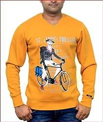 Unicott_V-Neck Sweatshirt_Mustard_Large
