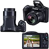 Canon Powershot SX410 IS 20 MP Digital Camera with 40x Optical Zoom and 720p HD Video (Black) + NB-11L Battery & AC/DC Battery Charger + 9pc Bundle 32GB Accessory Kit W/ HeroFiber Cleaning Cloth