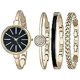 Anne Klein Women's AK/1470 Watch and Bracelet Set