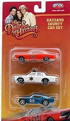 Dukes of Hazzard 3 Car Die cast 1:64 Model Car General Lee Set