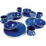 GSI Outdoors Pioneer 12 Piece Blue Enamelware Table Set