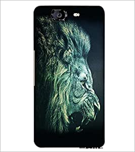 PrintDhaba Lion Roar D-1154 Back Case Cover for MICROMAX A350 CANVAS KNIGHT (Multi-Coloured)