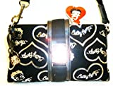 51bIIlDshYL. SL160  Betty Boop Belt Golden Tone Lock Black Silver Cross body Messenger Shoulder Sling Bag Purse