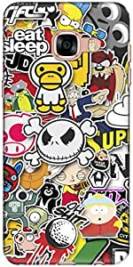 The Racoon Lean Sticker Bomb hard plastic printed back case/cover for Samsung Galaxy C5