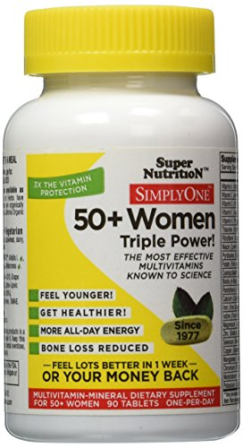 SuperNutrition Simply One 50+ Women's Multivitamin Tablet, 90 Count (Super Nutrition Simply One compare prices)