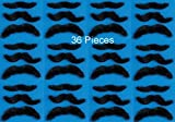 Self Adhesive Mustaches Set Fake Costume Halloween 12pk