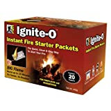 Ignite-O Instant Fire Starter Packets, 20 Packets  380g  (Pack of 2)
