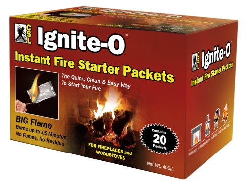 Review Ignite-O Instant Fire Starter Packets, 20 Packets  380g  (Pack of 2)