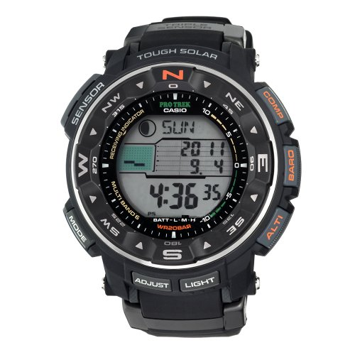 Casio Men's PRW2500-1 Pathfinder Triple Sensor Tough Solar Digital Multi-Funtion Pathfinder Watch